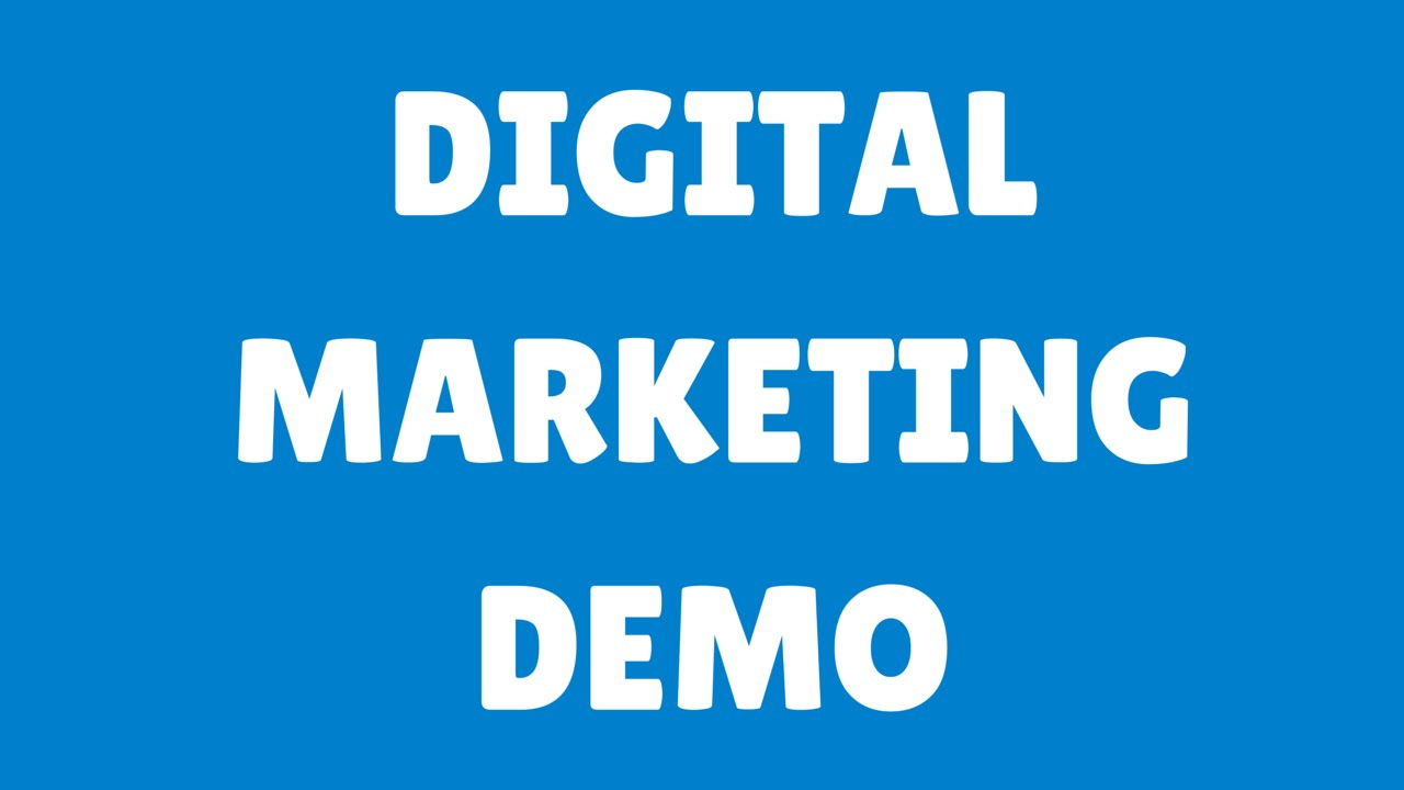 Digital Marketing Demo